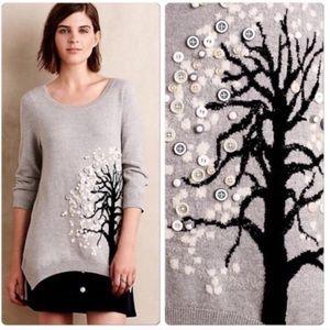 Monogram anthropologie button tree sweater